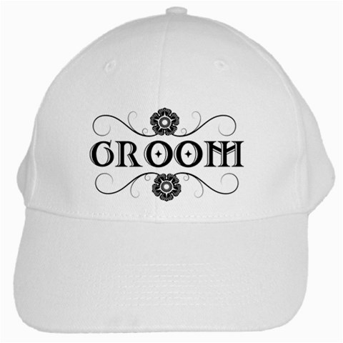 Groom Hat By Patricia W   White Cap   Uwrx7ol4i2vx   Www Artscow Com Front