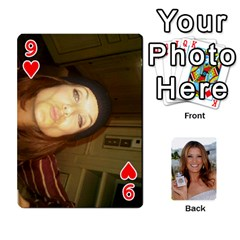 Kate Playing Cards By Karen   Playing Cards 54 Designs   C9joovjddwhq   Www Artscow Com Front - Heart9