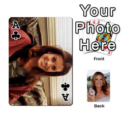 Ace Kate Playing Cards By Karen   Playing Cards 54 Designs   C9joovjddwhq   Www Artscow Com Front - ClubA