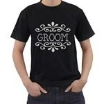 Groom T-Shirt - Men s T-Shirt (Black) (Two Sided)
