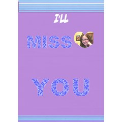 Card For Didi By Adina Goldblatt   Miss You 3d Greeting Card (7x5)   Cgp21ruugzsi   Www Artscow Com Inside