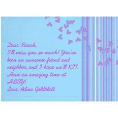 Card 4 Sarah By Adina Goldblatt   Miss You 3d Greeting Card (7x5)   Oz206ltf194m   Www Artscow Com Back