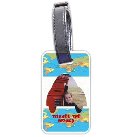 Travel The World Tag By Malky   Luggage Tag (one Side)   Wqb5on3cqg5l   Www Artscow Com Front