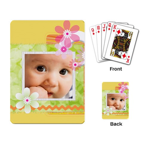 Flower By Joely   Playing Cards Single Design   Jn0q6n2md7az   Www Artscow Com Back