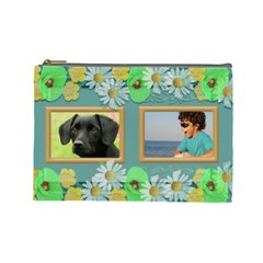 My Family Cosmetic Bag (large) By Deborah   Cosmetic Bag (large)   Ijx6ra0xvr1e   Www Artscow Com Front