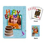 happy birthday - Playing Cards Single Design