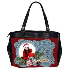 Christmas/santa Oversize Office Handbag (2 Sides) By Mikki   Oversize Office Handbag (2 Sides)   5t03ru8i8boa   Www Artscow Com Back