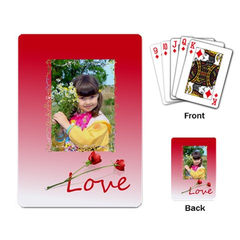 Love By Divad Brown   Playing Cards Single Design   M1c6o99zt3w9   Www Artscow Com Back