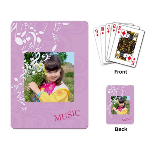 Music By Divad Brown   Playing Cards Single Design   Lu3k3qulb24v   Www Artscow Com Back