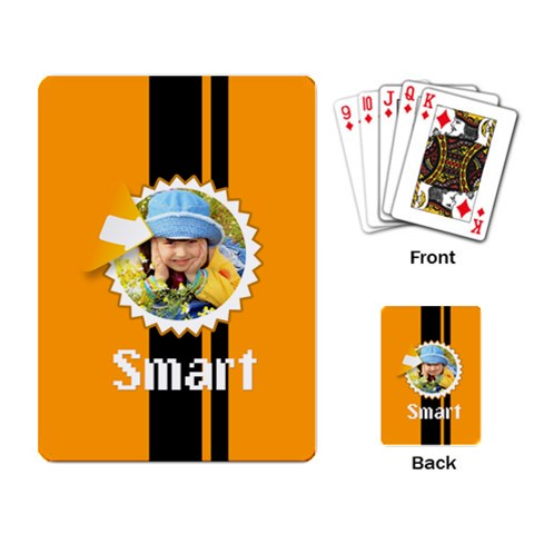 Smart By Divad Brown   Playing Cards Single Design   Nrcflk0c82r4   Www Artscow Com Back