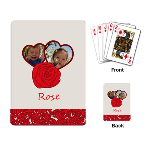 Rose By Divad Brown   Playing Cards Single Design   Qjcmt9cuxr5p   Www Artscow Com Back