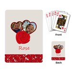 rose - Playing Cards Single Design