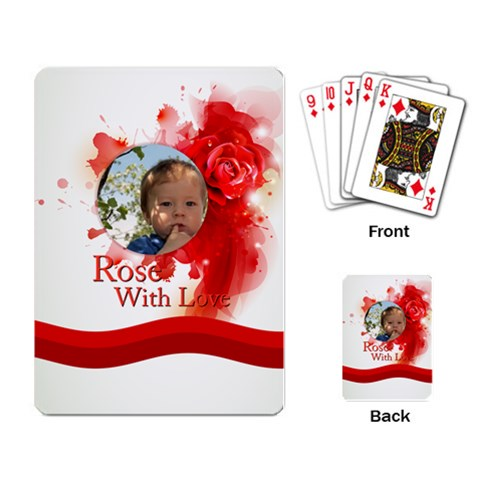 Love By Divad Brown   Playing Cards Single Design   Wgdsc8w21fo3   Www Artscow Com Back