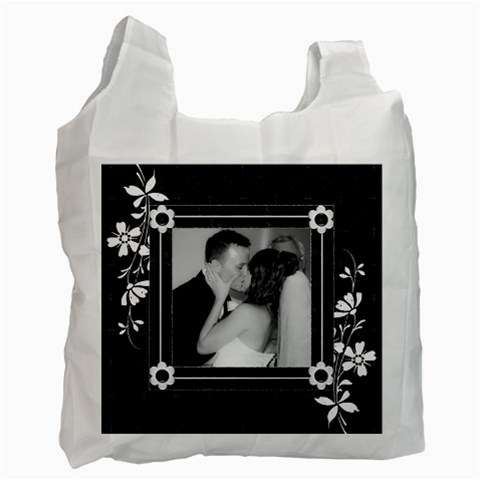 Black And White Recycle Bag (one Sided) By Lil    Recycle Bag (one Side)   Xx2jajlm421a   Www Artscow Com Front