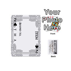 London Below Item Cards By Peter Cobcroft   Playing Cards 54 (mini)   Npi4onxgf3pa   Www Artscow Com Front - Spade2