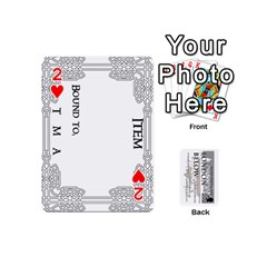 London Below Item Cards By Peter Cobcroft   Playing Cards 54 (mini)   Npi4onxgf3pa   Www Artscow Com Front - Heart2