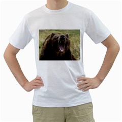 Grizzly Bear By Shelleyww42 Gmail Com   Men s T Shirt (white) (two Sided)   E5sewcokc5yg   Www Artscow Com Front