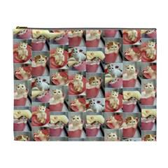 Cute Cat Xlarge Cosmetic Case By Leandra Jordan   Cosmetic Bag (xl)   Vlzrmy35obl2   Www Artscow Com Front