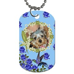 Blue Rose Dog Tag Two Sides By Jolene   Dog Tag (two Sides)   U31qogxe5mlr   Www Artscow Com Front