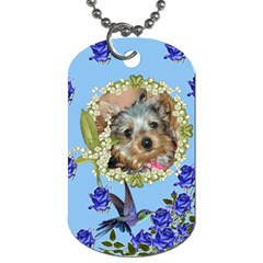 Blue Rose Dog Tag Two Sides By Jolene   Dog Tag (two Sides)   U31qogxe5mlr   Www Artscow Com Back