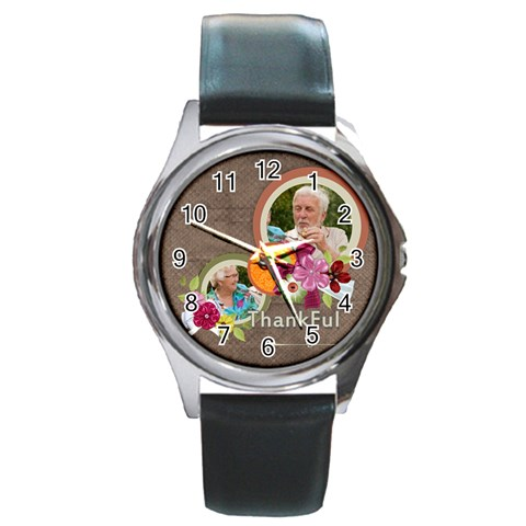 Thank By Joely   Round Metal Watch   Nlccwxk7g7k2   Www Artscow Com Front