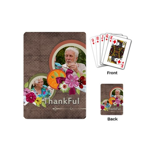 Thank You By Joely   Playing Cards (mini)   C98qu523frg4   Www Artscow Com Back