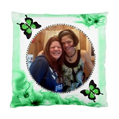Green Floral Corner Pillow Tw2o Sides By Kim Blair   Standard Cushion Case (two Sides)   6ue7nhchscg8   Www Artscow Com Back