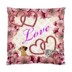Floral Love Pillow By Kim Blair   Standard Cushion Case (two Sides)   Ubqdud897dbr   Www Artscow Com Front