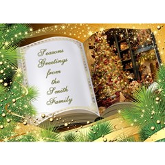 Seasons Greeting 3d Circle (7x5) Card By Deborah   Circle Bottom 3d Greeting Card (7x5)   Icx5c66isgk4   Www Artscow Com Front