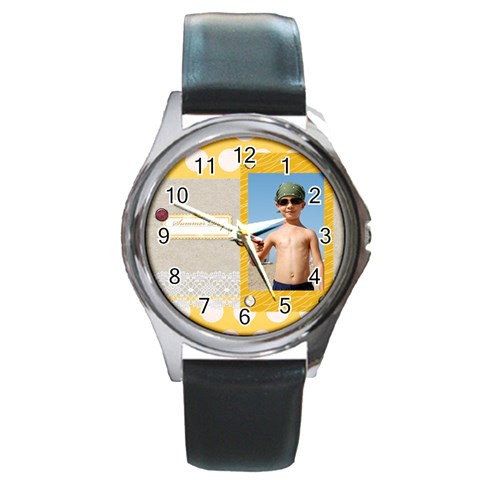 Summer By Joely   Round Metal Watch   Mg6ccj9du1rt   Www Artscow Com Front