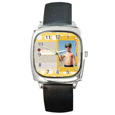 Summer By Joely   Square Metal Watch   Bejv0oti4d0g   Www Artscow Com Front