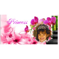 Pink Princess Birthday Card By Kim Blair   Happy Birthday 3d Greeting Card (8x4)   Owxm2mn64lwi   Www Artscow Com Front