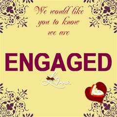 Engagement Card By Kim Blair   Engaged 3d Greeting Card (8x4)   Qwfqts4cvtqt   Www Artscow Com Inside