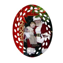 Christmas Memories Filigree Oval Ornament (2 Sided) By Deborah   Oval Filigree Ornament (two Sides)   Tu3p2cfv6eed   Www Artscow Com Back