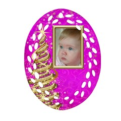 My Little Pink  Princess Filigree Ornament (2 Sided) By Deborah   Oval Filigree Ornament (two Sides)   50z3rkym6qe5   Www Artscow Com Front