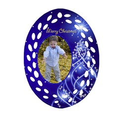 Christmas Filigree Ornament 2 (2 Sided) By Deborah   Oval Filigree Ornament (two Sides)   Sm74midad0xo   Www Artscow Com Front