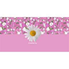 My Floral Happy Birthday 3d Card By Deborah   Happy Birthday 3d Greeting Card (8x4)   Ugfntv556y2r   Www Artscow Com Back