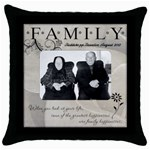 redd - Throw Pillow Case (Black)