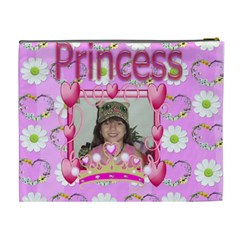 Pink Princess Cosmetic Bag Xl 2 Sides By Kim Blair   Cosmetic Bag (xl)   8dsl0uhg7spo   Www Artscow Com Back
