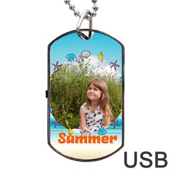 Summer By May   Dog Tag Usb Flash (two Sides)   Ivsar7ikyul7   Www Artscow Com Front