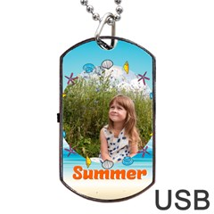 Summer By May   Dog Tag Usb Flash (two Sides)   Ivsar7ikyul7   Www Artscow Com Back