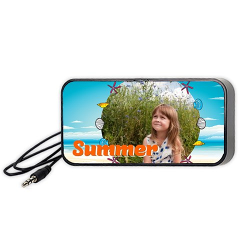 Summer By May   Portable Speaker (black)   Gv5st33izo4i   Www Artscow Com Front
