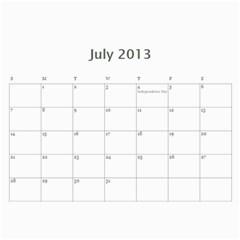 Calendar By Bryce Campbell   Wall Calendar 11  X 8 5  (12 Months)   1xp87vl3xdj5   Www Artscow Com Jul 2013