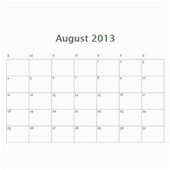 Calendar By Bryce Campbell   Wall Calendar 11  X 8 5  (12 Months)   1xp87vl3xdj5   Www Artscow Com Aug 2013
