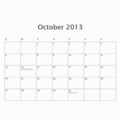Calendar By Bryce Campbell   Wall Calendar 11  X 8 5  (12 Months)   1xp87vl3xdj5   Www Artscow Com Oct 2013