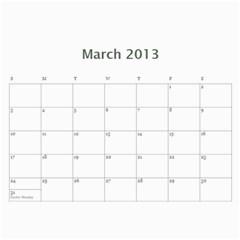 Calendar By Bryce Campbell   Wall Calendar 11  X 8 5  (12 Months)   1xp87vl3xdj5   Www Artscow Com Mar 2013