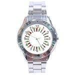 happy people  - Stainless Steel Analogue Watch
