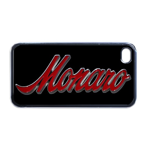 Red/black Old Skool Monaro Badge Iphone 4 By Clinton Halliday   Apple Iphone 4 Case (black)   Anmytyzdnahi   Www Artscow Com Front