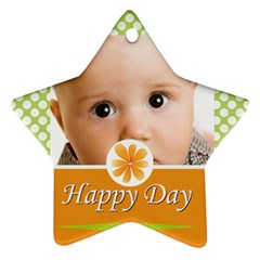 Happy Day By Joely   Star Ornament (two Sides)   9e4h2zf3x2ti   Www Artscow Com Front