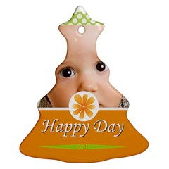 Happy Day By Joely   Christmas Tree Ornament (two Sides)   4nd7p8w7k8gz   Www Artscow Com Front